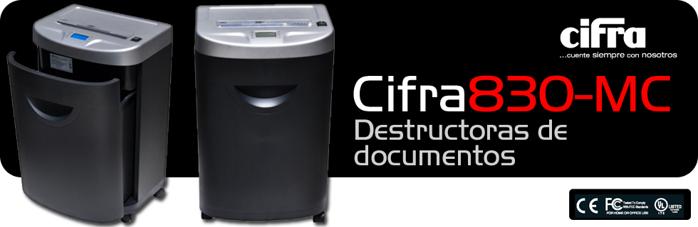 Destructoras de documentos Cifra 830MC